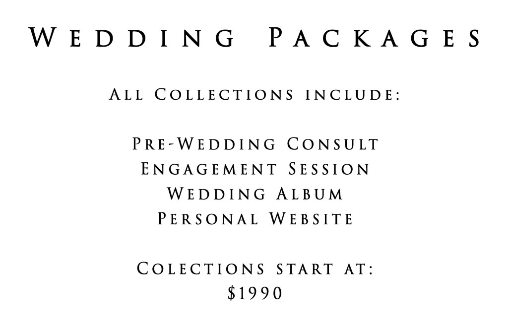 Wedding Pricing | Wedding Collections }| Photography by Amanda Jayne